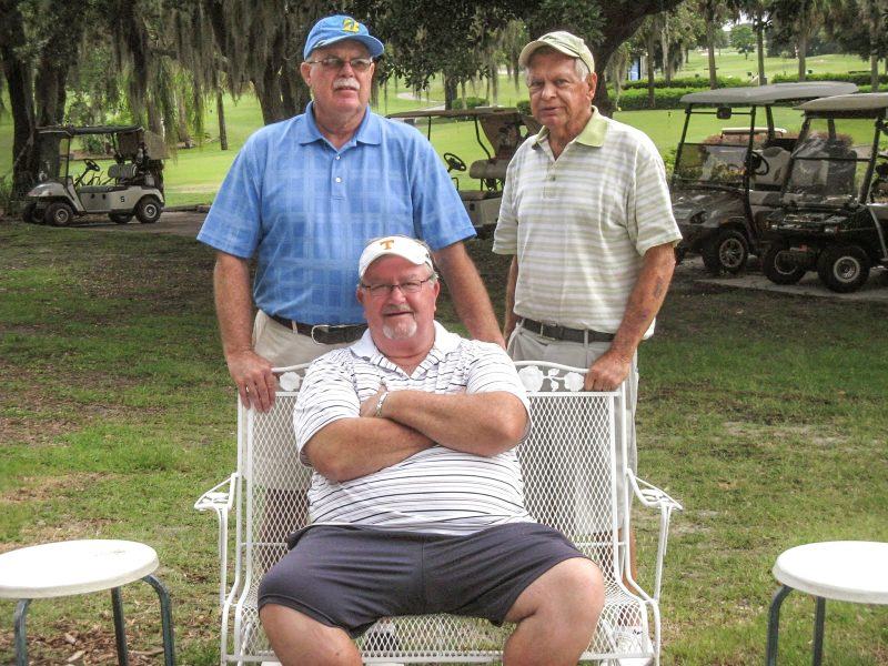 Standing left to Right: Mike Brock and Don Mowry, Seated: Ruben Jones | Sandpiper Oak-Lakes Golf Course, Sun City Center