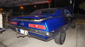 Right rear view of 1969 Chevy Camaro awarded Roamin' Oldies 'Cruiser Of The Month' for October 2013 in Apollo Beach