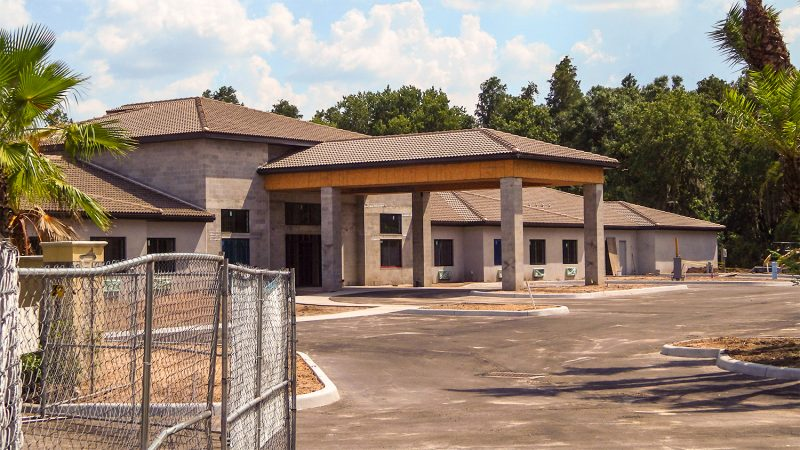Aug 23, 2014 - parking lot paved at Inspired Living in Sun City Center