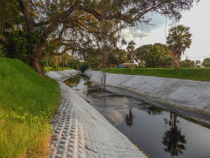 Aug 9, 2014 new concrete sides in Cypress Creek in Kings Point
