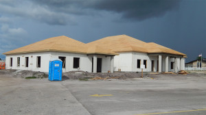 Aug 9, 2014 - plywood on roof of Samaritan Multipurpose Building, Sun City Center, FL