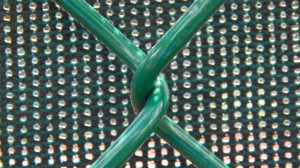 Aug 2, 2014 - Closeup of new green chainlink fence at the North Court Complexe in Kings Point