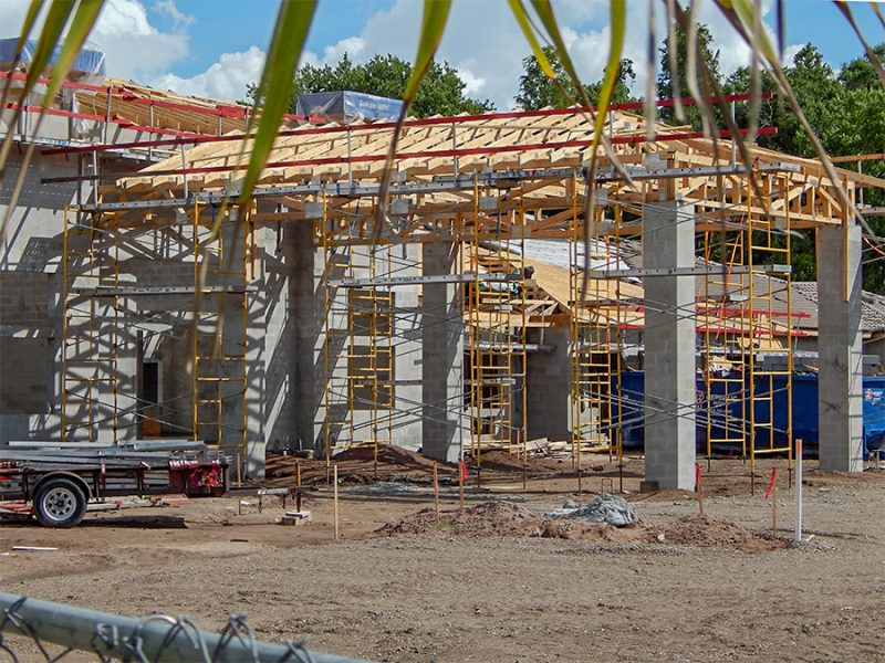 July 7, 2014 - construction of Inspired Living In Sun City Center - Validus Memory Care Facility