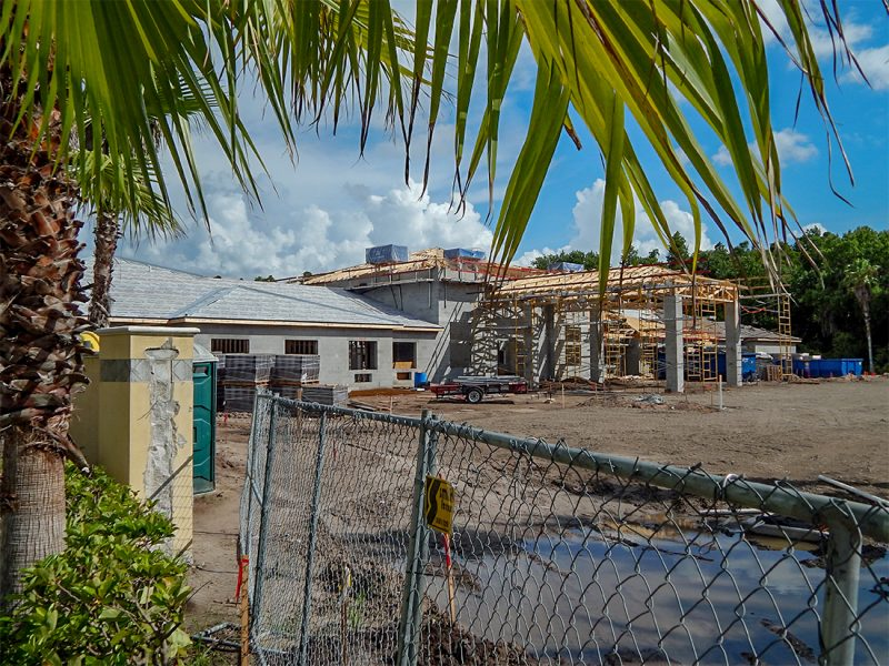 July 7, 2014 - construction site of Inspired Living in back of Minto Home Sales building on Commercial Center Dr in Sun City Center, FL