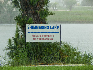 July 14, 2014 - afternnon rain at Shimmering Lake on Rickenbacker Dr in Sun City Center