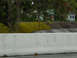 July 14, 2014: grass added to sides of creek that runs under Kings Blvd in Kings Point, SCC, FL