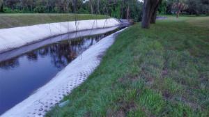 July 20, 2014 - creek excavation on Kings Blvd
