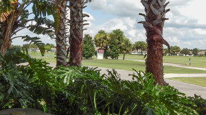July 22, 2014 - Scepter Clublink Golf Club (looking at outside digital clock from patio) in the gated Kings Point section of Sun City Center, FL