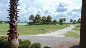 July 22, 2014 - Scepter Clublink Golf Club ( looking east from the patio outside) in the gated Kings Point community of Greater Sun City Center, FL