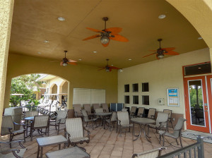 July 22, 2014 - Scepter Clublink Golf Club (patio is a social area for golfers) in the gated Kings Point community of Greater Sun City Center, FL