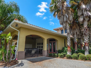 July 22, 2014 - Scepter Clublink Golf Club (roofed in patio with fans and tables) in the gated Kings Point community of Greater Sun City Center, FL