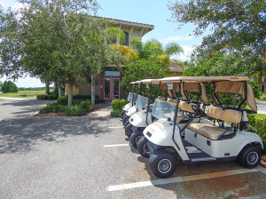July 22, 2014 - Scepter Golf Club (Clublink golf carts in front of club building) in the gated Kings Point section of Sun City Center, FL