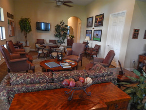July 22, 2014 - Scepter Golf Club (a view of the inside clubhoue) in the gated Kings Point section of Sun City Center, FL