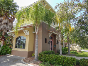 July 22, 2014 - Scepter Golf Club (corner and front door of club building) in the gated Kings Point section of Sun City Center, FL