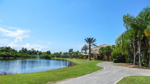 July 22, 2014 - Scepter Golf Club (in back of Scepter looking west) in the gated community of Kings Point in Greater Sun City Center, FL