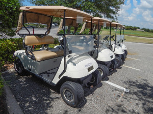 July 22, 2014 - Scepter Golf Club wtih golf carts labeled Clublink in front of clubhouse
