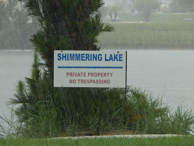 July 14, 2014 - rain at Shimmering Lake in Sun City Center, FL