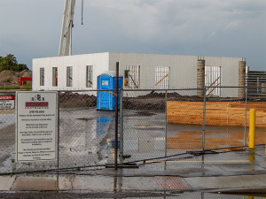 July 10, 2014: walls and concrete pillars up on Samaritan Multipurpose Building, Sun City Center, FL
