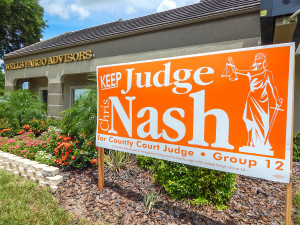 Aug 2, 2014 - Keep Judge Chris Nash for County Court Judge Group 12 sign for 2014 Campaign
