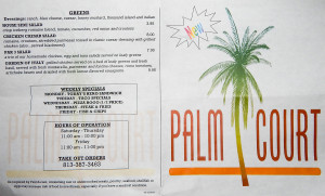 Aug 7, 2014 - MENU Palm Court Cafe, Restaurant and Bar at South Clubhouse, Kings Point