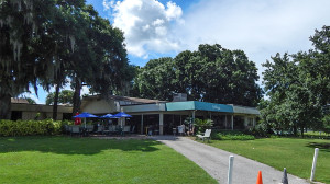 Outside Bunkers Bar & Grille at Sandpipers Golf Club, Sun City Center, FL