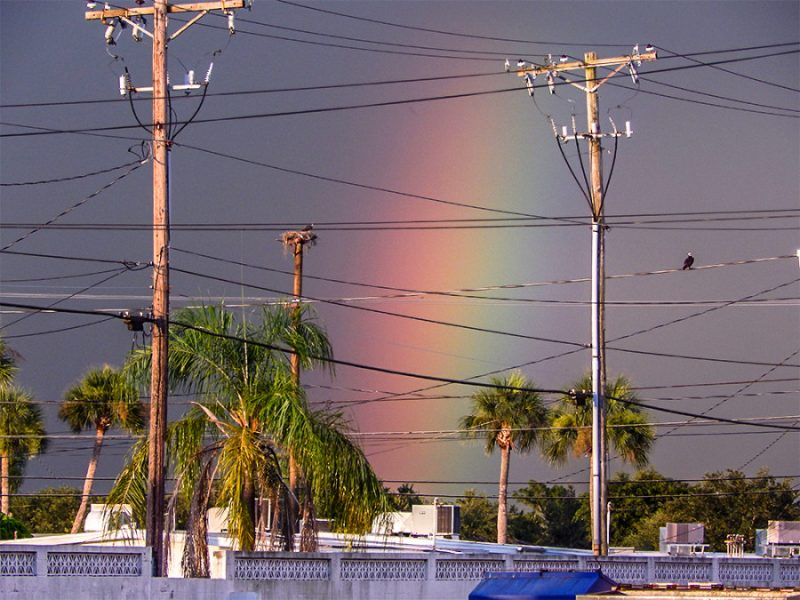 Rainbow behind Sun City Center Plaza July 8, 2014