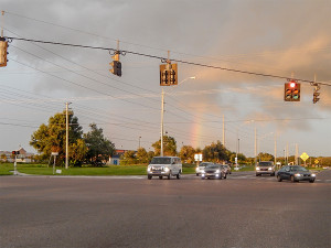 Rainbow visible in Wimauma FL