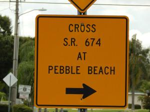 Signage - 'CROSS S.R. 674 AT PEBBLE BEACH'