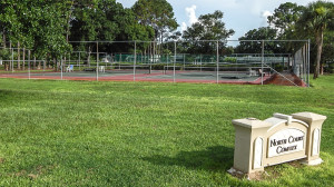 July 26, 2014 - Tennis Courts at North Course Complex getting new fencing and sidewalks