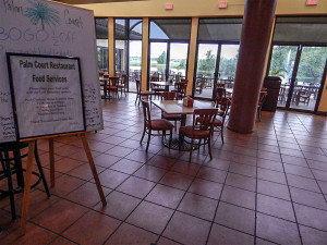 The new Palm Court Cafe at South Clubhouse in Kings Point