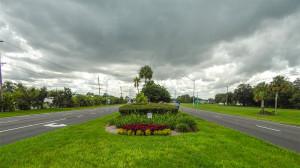 On median looking west on S.R. 674 in Sun City Center, FL
