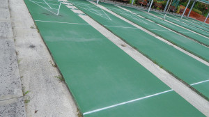 Aug 18, 2014 - Close up of surface of Shuffleboard courts in Kings Point