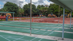 Aug 18, 2014 - Half of the Shuffleboard courts being removed for new lawn bowling lanes, Kings Point