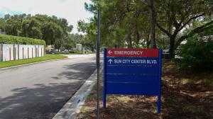 Aug 13, 2014 - South Bay Hospital exiting walking towards Sun City Center Blvd