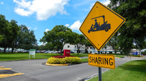 Aug 13, 2014 - South Bay Hospital shares roads and parking lots with golf carts in Sun City Center, FL