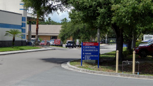 Aug 13, 2014 - South Bay Hospital sign pointing to Emergency Room in Sun City Center, FL