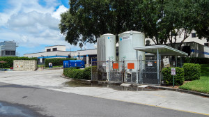 Aug 13, 2014 - South Bay Hospital with Matheson Tri Gas Liquid Oxygen tanks in Sun City Center, FL