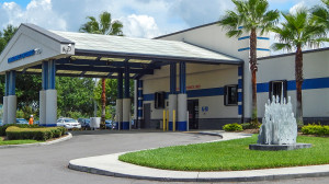 Aug 13, 2014 - South Bay Hospital with patient dropoff for ambulances in Sun City Center, FL