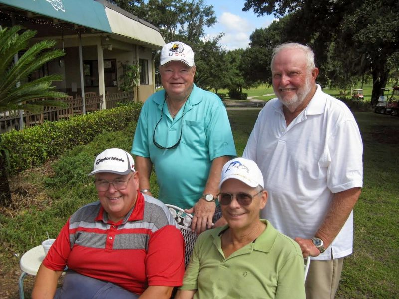 Standing L to R: Jerry Egger and Rich Lucidi, Seated L to R: Mike Greenwood and Bill Barron | Hogans Golf Club at Sandpiper Golf Course Sun City Center