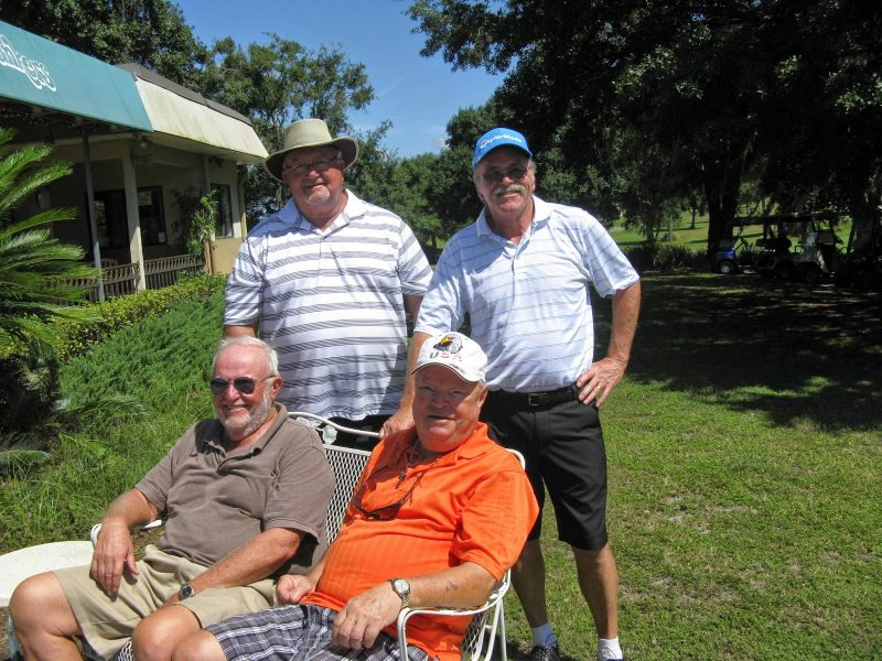 Standing Left to Right:  Ruben Jones and Paul Swakow, Seated Left to Right:  Rich Lucidi and Jerry Egger | Hogans Golf Club at Sandpiper Golf Course in Sun City Center