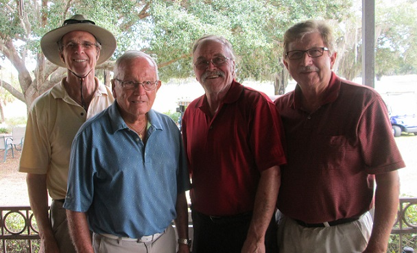 L to R: Doug McFaul, Frank Rovnanik, Paul Swakow, and Rex Gibbons | Hogans Golf Clun of  Sun City Center and Kings Point