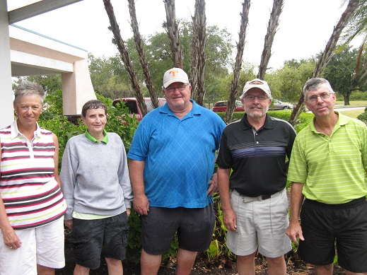 L to R: Nancy Phillips, Jenice Taylor, Ruben Jones, Norm Taylor and Jim Sari | Hogans Golf Club of Sun City Center and Kings Point