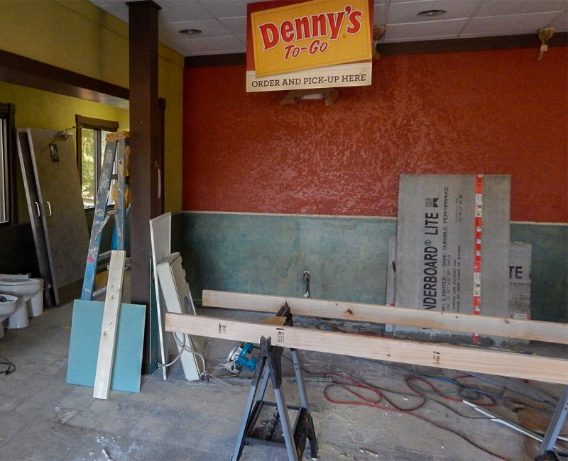 Denny's being remodeling in Sun City Center, FL