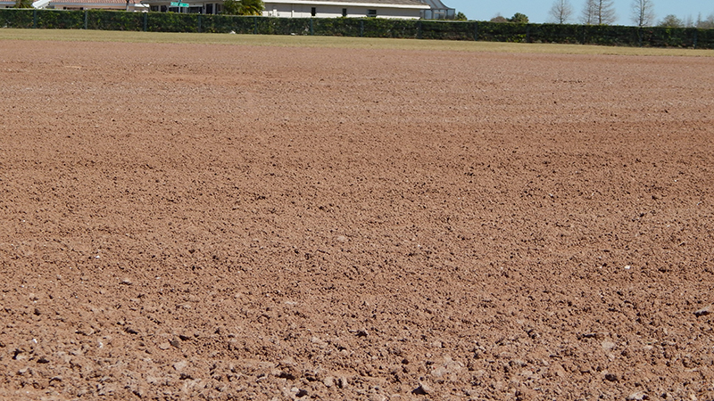 Don Senk Field smoothed out so balls don't dangerously bouced injuring players
