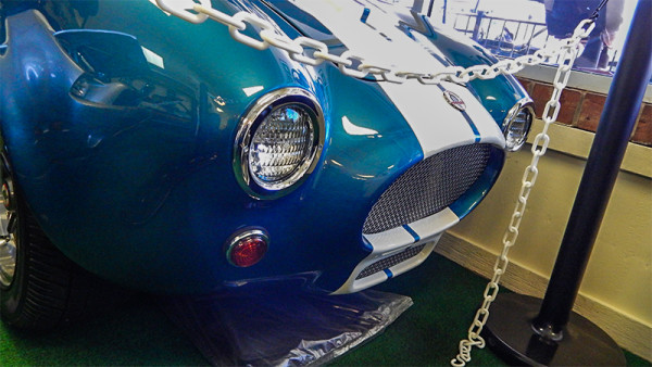 Grille on Shelby Cobra golf cart at West Coast Golf Cars, Sun City Center, FL