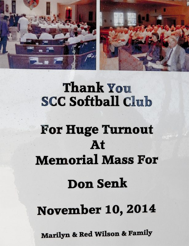 Huge Turnout at Memorial Mass for Don Senk November 10, 2014