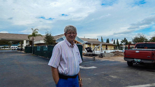 Jim is a Church member and also over sees construction operations at Trinity Babtist Church
