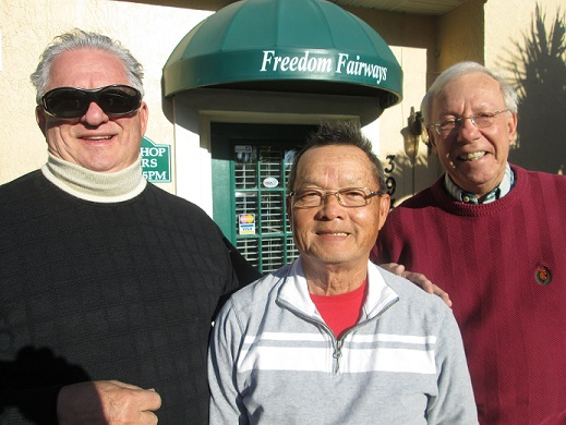 L to R Charlie Brown, Ray Bui, and Andy Betz Hogans Golf Club Sun City Center and Kings Point