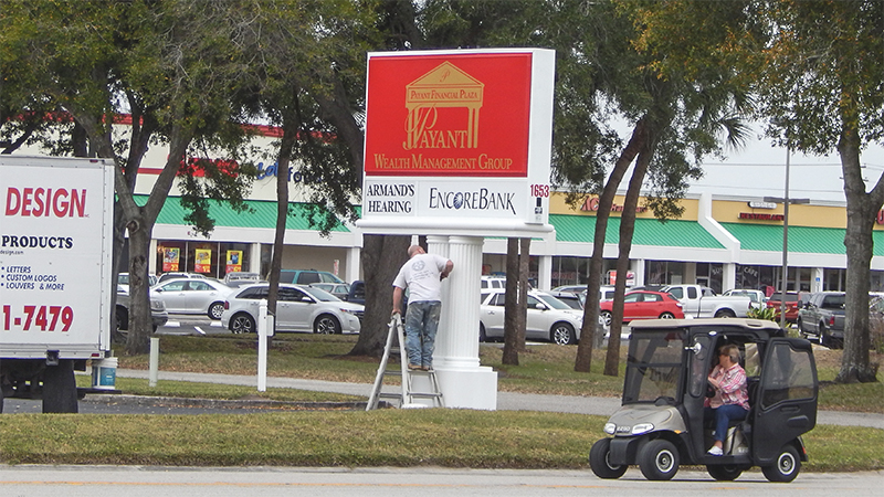 New Sign Payant Wealth Management Group Armands Hearing, Encore Bank, Sun City Center