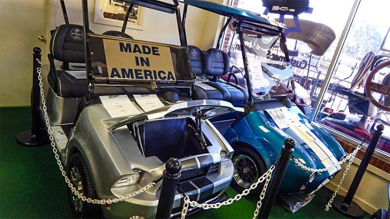 Shelby Cobra Golf Carts by CaddyShack/2015 suncitycenterphotos.com